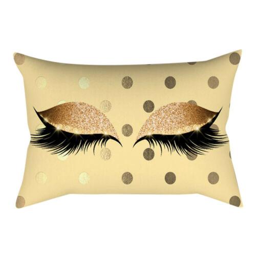 Eyelash Out Soft Velvet Cushion Cover 30x50cm Marble Pillow Cases