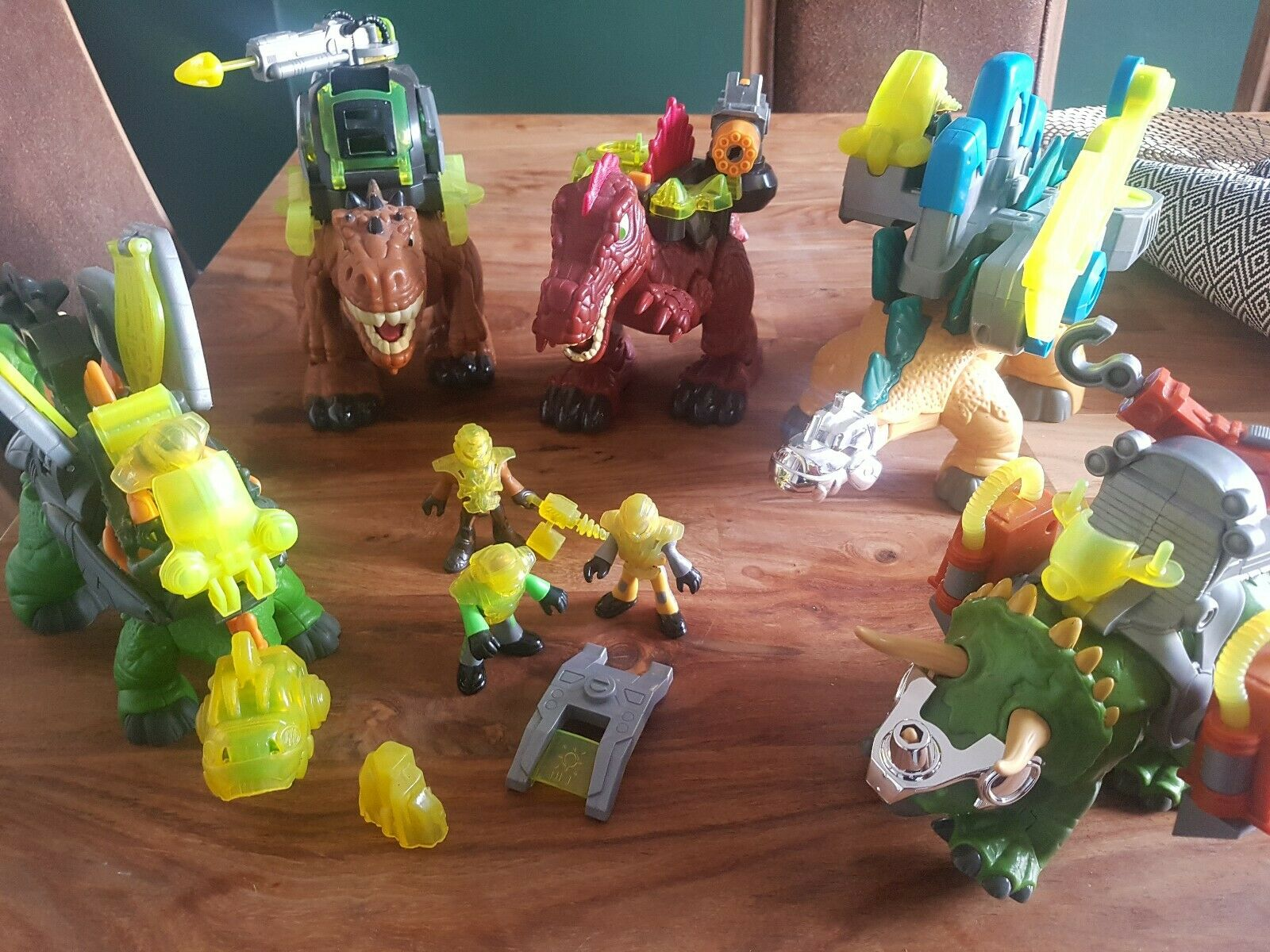 FISHER PRICE IMAGINEXT DINOSAUR BUNDLE JOB LOT + ALL ACCESSORIES + FIGURES