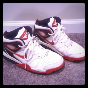 Details about Nike Air Flight Falcon Olympic Size 7.5 WhiteRedBlueGold