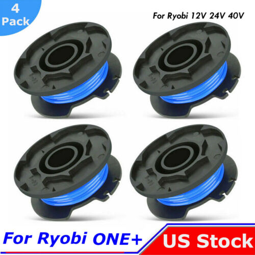 """4xGrass String Trimmer Spool Line For Ryobi Weed Eater One18//24//40V 065/""""AC14RL3A"""