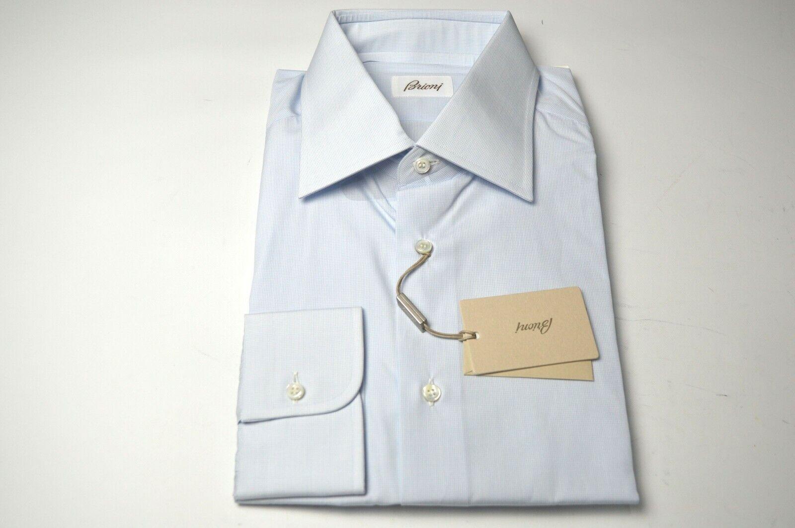 NEW  BRIONI Dress  hemd 100% baumwolle Größe 17 Us 43 Eu  (ARA233)