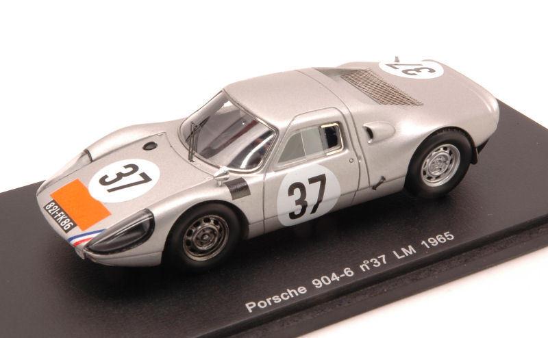 Porsche 904-6  37 18Th Le Mans 1965 Pon-Buchet 1 43 Spark S3446 Modellino