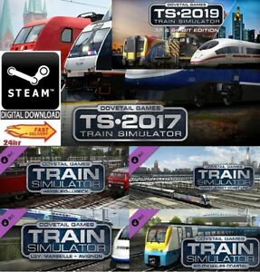 Details about Train Simulator 2017 + 2019 Upgrade + DLC inc 4 Route Add Ons  worth£70 PC Steam