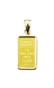1-gram-24K-Gold-Credit-Suisse-Statue-of-Liberty-Bar-Necklace-Charm-Pendant-CSF
