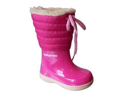 Pink Snow Boot with Draw String Various Sizes BabyBotte Wapiti Girls Fuschia