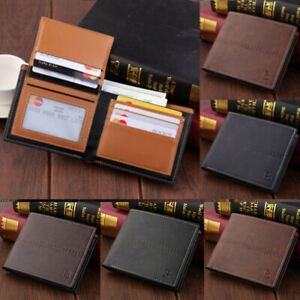 Coin-Purse-Pu-Leather-Men-039-s-Wallet-Bifold-Credit-Card-Holder-Money-Clip