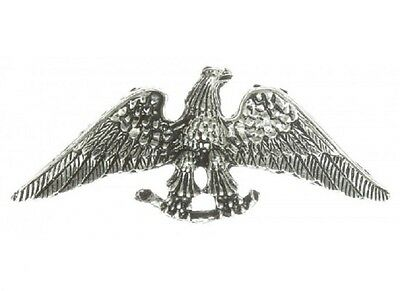 "(#A205) EAGLE with SPREAD WING Pewter Vest / Hat Pin 2.6"" x 1"" Biker Jacket"