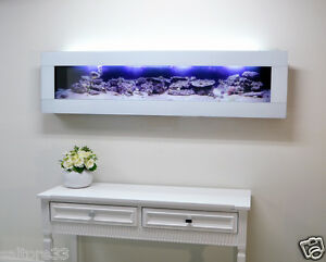 5FT-1-5m-WHITE-DESIGNER-ARTISTIC-WALL-AQUARIUM-FISH-TANK-LIVE-ART-FISHTANK