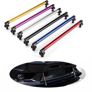 2X-Adjustable-Front-Rear-Bumper-Lip-Splitter-Rod-Strut-Tie-Bar-Support-200MM-Ke