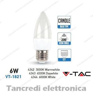 Lampadina-led-V-TAC-6W-40W-E27-VT-1821-a-candela-attacco-grande-smd-VTAC