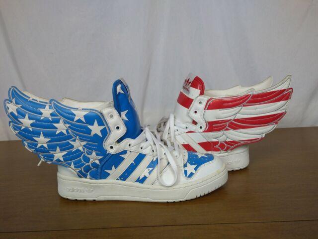 Adidas Jeremy Scott Wings 2.0 US FLAG Stars Stripes sneakers V24619 RARE size 11