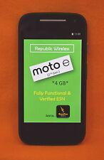 REPUBLIC WIRELESS, MOTOROLA MOTO E 8GB, 2ND GEN, SMARTPHONE, BLACK, SCORCHING