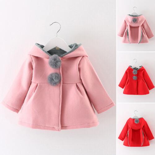 Newborn Infant Baby Girls autum Outerwear Hooded Coat kids Warm Winter Clothes