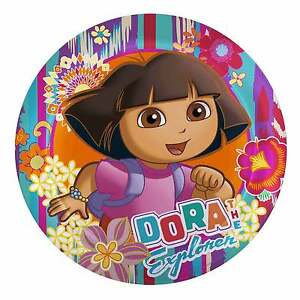 Dora-the-Explorer-Edible-Birthday-Cake-Icing-Sheet-Topper-Decoration-Round-Image