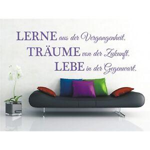 Wandtattoo-Spruch-Lerne-Traeume-Lebe-Leben-Wandsticker-Wandaufkleber-Sticker-3