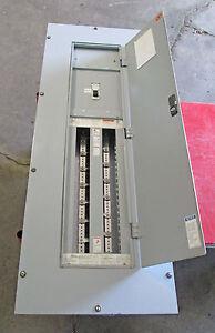 X Cutler Hammer 225 amp Panelboard 480 277 VAC 42 circuit ... on power wiring, septic tank wiring, lighting wiring, load center wiring, swimming pool wiring, subpanel wiring,