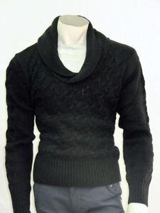 prezzo imbattibile informazioni per comprare popolare Dettagli su Maglia lana grossa uomo slim fashion maglione cardigan wool m l  xl xxl mad italy