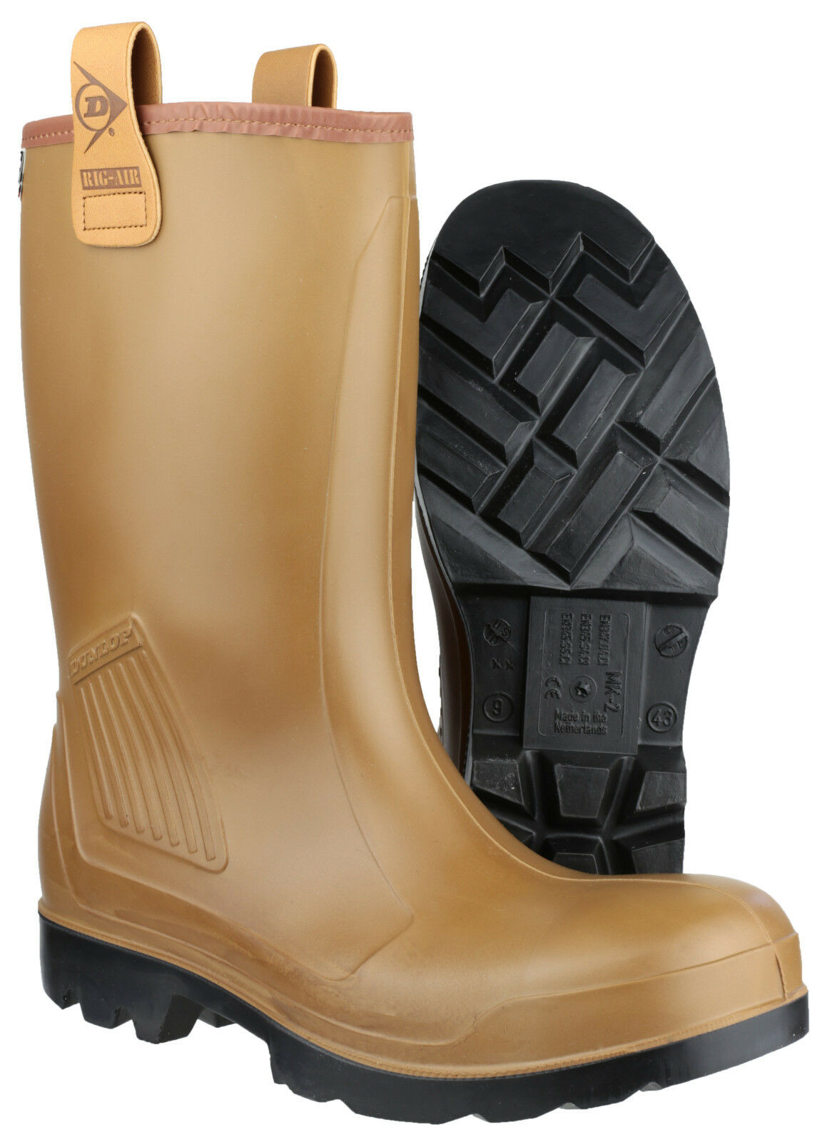 Dunlop Pull Purofort Rig d'aria piena di sicurezza da uomo Pull Dunlop On Wellingtons uk6-13 industriale 0fd703