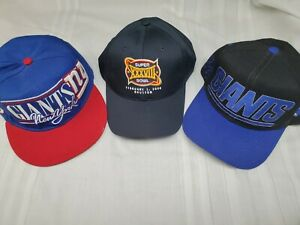 Vintage Snapback Hats >> Details About Used Retro New York Giants Vintage Snapback Hats Bonus Brand New Super Bowl Hat
