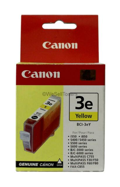 Canon BCI-3e Yellow Ink Cartridge 4482A003 Genuine New Sealed Box