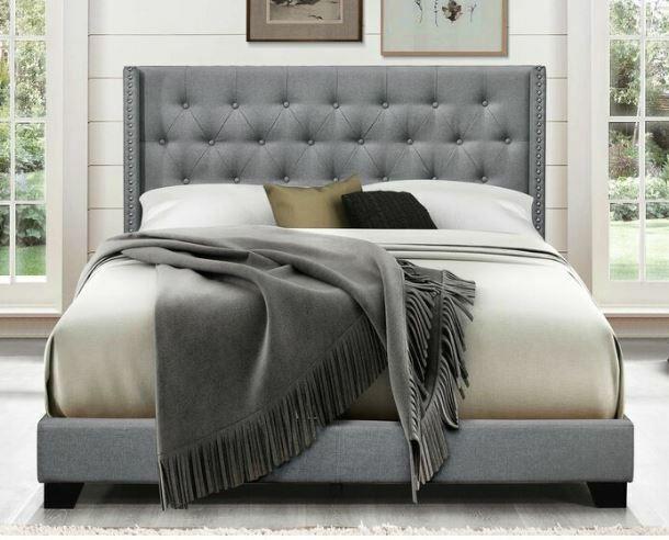 Gracie Oaks Pirkle Upholstered Panel Bed For Sale Online Ebay