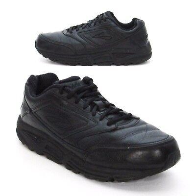 a08d804b2fa Brooks Ladies 9 2E Addiction Walker Black Leather Sneakers Comfort Walking  Shoes