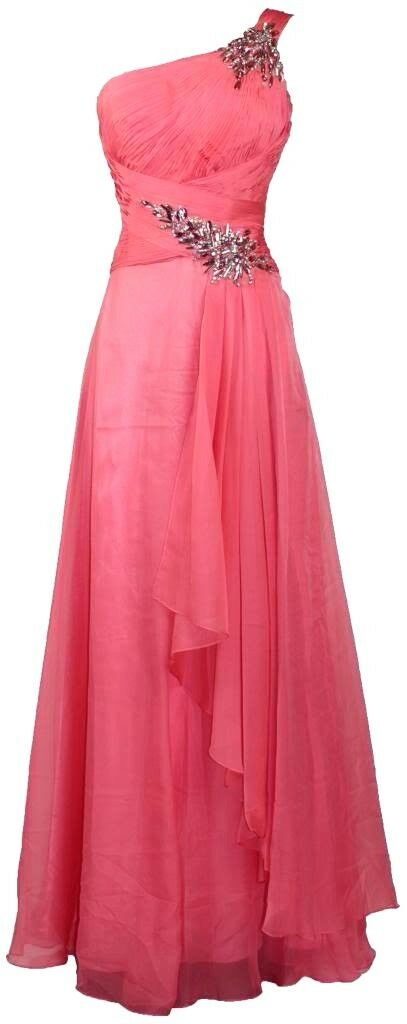 One shoulder Pleated Rhinestones beaded Long Evening Gown prom dress