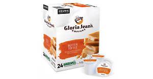 Gloria Jean's Keurig K-Cups Coffee, 72 Pods, 3 boxes of 24 (Butter Toffee)