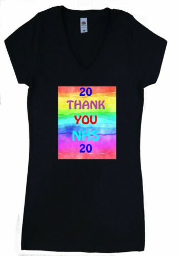 New Women T Shirt Gift Thank You NHS Family Friends Personalised Nurse Tee UK