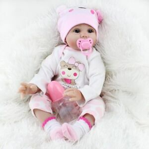 LIFELIKE NEWBORN DOLLS REALISTIC SILICONE VINYL REBORN HANDMADE BABY GIRL DOLL 6924517919225
