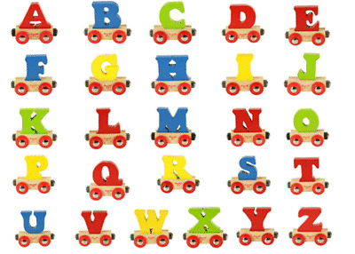 Colors Vary Wooden Railway Train System Accessory Bigjigs Rail Name Letter