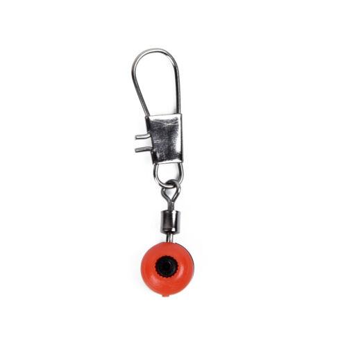 100pcs Fishing Swivel /& Interlock Snap Sinker Slide Tackle Connector Lure Useful