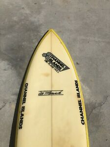Vintage-Al-Merrick-Twin-Fin-Surfboard-1980-s