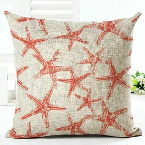 "18"" Home Cotton Linen Pillow Case Car Bed Sofa Waist Cushion Cover Sea Creature"