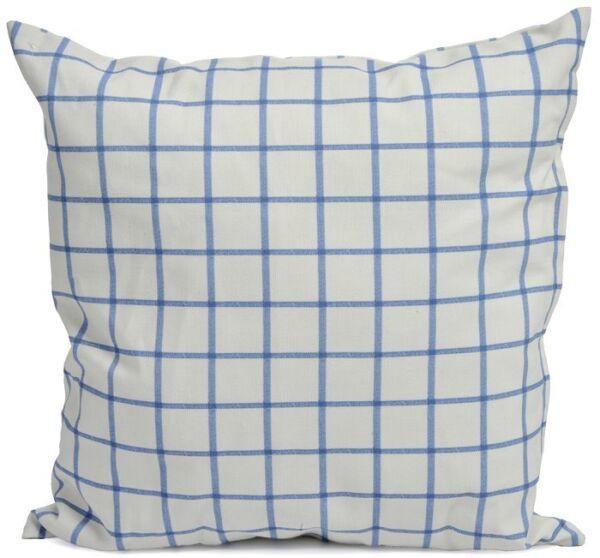 100% Vero Coussin En Polyester Vichy Bleu Et Blanc Soldé -40% 40x40cm Essere Romanzo Nel Design