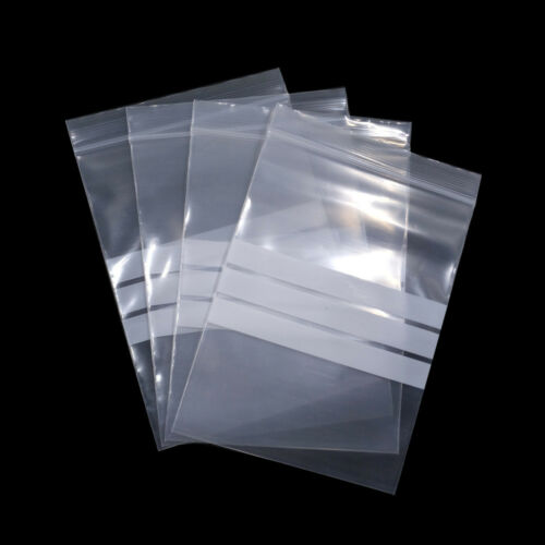 Clear Plastic Grip Writable for Zip Bags Tea Jewelry Lock Spice Storage Pouches