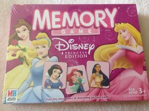 memory game disney princess edition milton bradley preschool no