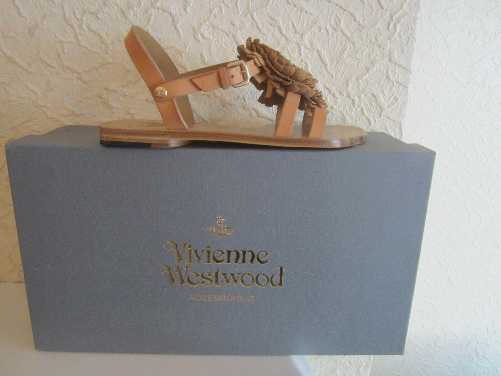 Vivienne Westwood Floral Detail Leather Sandals Größe 36