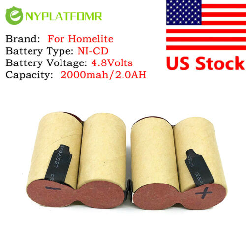 For Homelite 4.8V 2000mAh Ni-CD Battery Pack UT20683 DA06965A 06965 Trimmer