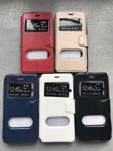 Coque-Etui-Portefeuille-Cuir-Double-fenetres-Housse-Samsung-Galaxy-A8-2018