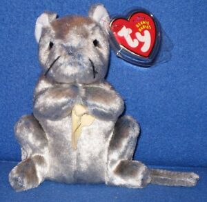 c9da006f294 TY CHEDDAR the MOUSE BEANIE BABY - MINT TAG - NON MINT CHEESE BIT ...