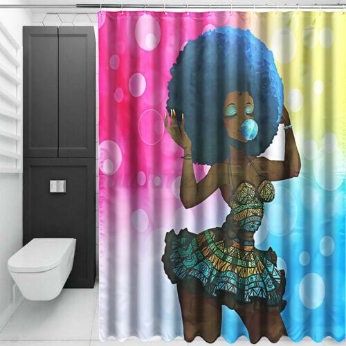 Details about  /Waterproof Shower Curtain Bathroom Toilet Seat Cover Bath Mat Rug Animal Style
