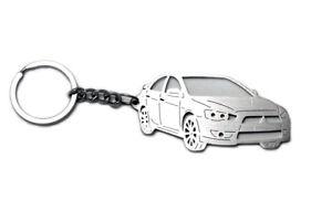 Automobilia Selbstlos Schlüsselanhänger Auto 3d Design Mitsubishi Lancer X 4d Edelstahl Keychain Einfach Und Leicht Zu Handhaben Schlüsselanhänger
