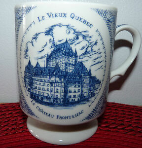 Real-Nice-and-Rare-Lovely-Coffee-Mug-Cup-Tasse-Cafe-Le-Vieux-Quebec