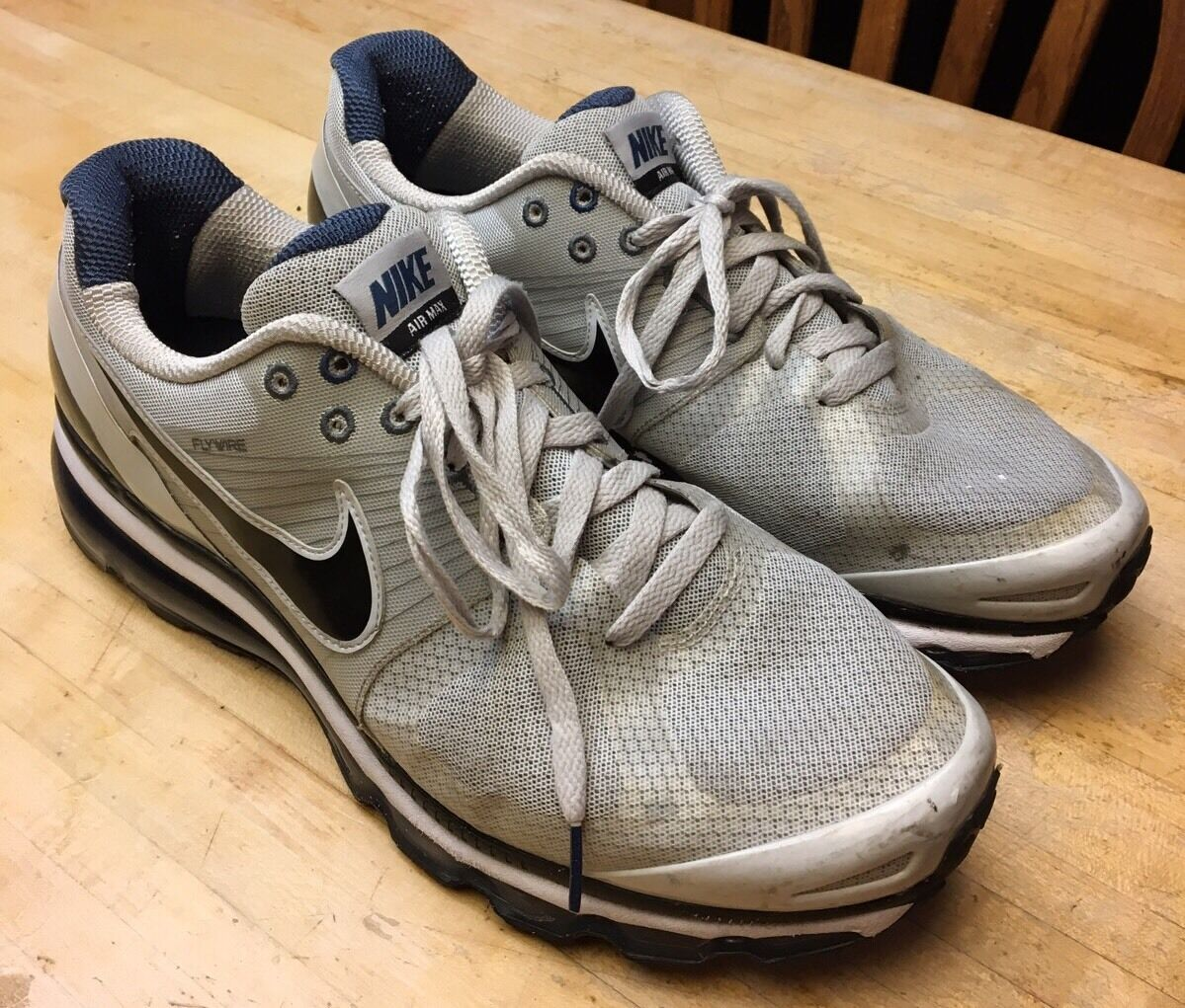 RARE Mens Nike Air Gray Max 2010 Gray Air Starlight White Black Shoes 386368-015 Size 13 d4fa3e