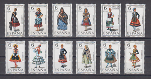 SPAIN-1970-MNH-SC-SCOTT-1428-39-REGIONAL-COSTUMES