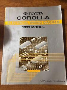 1999 Toyota Corolla OEM EVTM Electrical Wiring Diagram ...