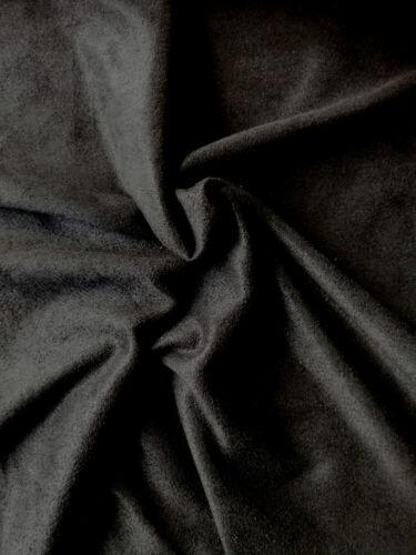 11,13€//m² Microfaser Stretch Velour Stoff schwarz 50x160cm elastisch dehnbar
