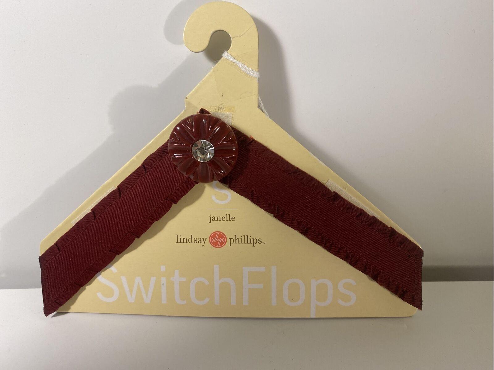 "NEW Lindsay Phillips SwitchFlops 7-8 Medium Interchangeable Straps ""Janelle"""