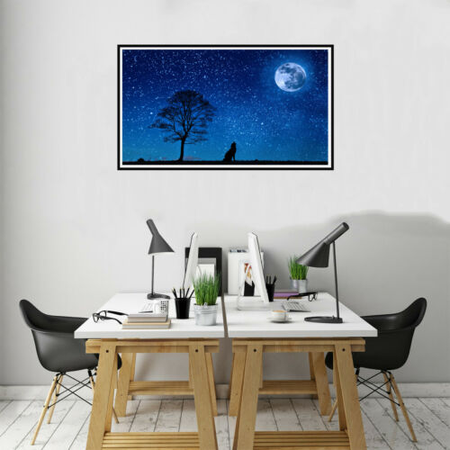Elephant Wolf Canvas Painting Poster Picture Living Room Wall Home Art Decor